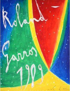Official Roland Garros 1989 Poster - Artist: Nicola de Maria