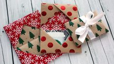 Holiday Card Series 2016 – Day 5 (DIY Gift Card Holder Made From Wrapping Paper)