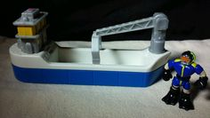 Fisher-Price Geotrax Train Set Accessories Freight Ship Boat Scuba Diver Figure  #FisherPrice