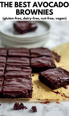 The Best Avocado Brownies Vegan Gluten Free Desserts, Healthy Dessert Recipes, Fruit Recipes, Healthy Baking, Real Food Recipes, Disney Recipes, Disney Food, Healthy Sweets, Yummy Recipes