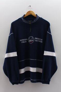 b4311c30 ELLESSE Sweatshirt Half Zip Vintage 90's Ellesse Perugia Ellesse, Used  Clothing, Autumn Outfits,