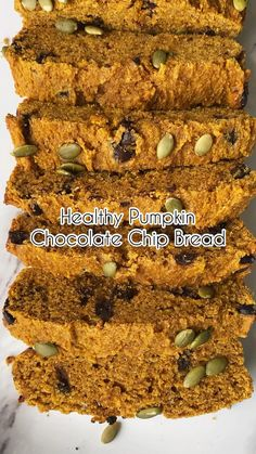 Healthy Cookies, Healthy Baking, Healthy Desserts, Healthy Recipes, Healthy Food, Baked Breakfast Recipes, Breakfast Cookies, Best Keto Bread, Pumpkin Chocolate Chip Bread