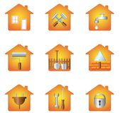 House With Tools Icon - Download From Over 58 Million High Quality Stock Photos, Images, Vectors. Sign up for FREE today. Image: 38500743