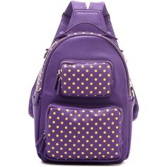 Natalie Michelle Backpack Large - Royal Purple and Yellow Gold 4008867a43c13