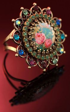 Great vintage ring designed by Michal Negrin
