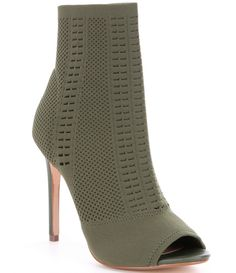 90dce876bff Steve Madden Candid Knit Peep Toe Booties