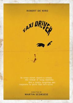 Taxi Driver, Amazing Minimal Poster