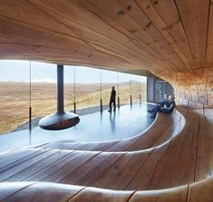 Built inspiration: Tverrfjellhytta Norwegian Wild Reindeer Pavilion by in which a warm undulating wood interior mirrors the surrounding windswept Dovrefjell mountains. Architecture Sketchbook, Architecture Portfolio, Sustainable Architecture, Contemporary Architecture, Landscape Architecture, Interior Architecture, Earthship, Artistic Installation, Small Buildings