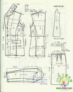 PANTS ( method of pattern making) Coat Pattern Sewing, Suit Pattern, Collar Pattern, Coat Patterns, Dress Sewing Patterns, Jacket Pattern, Clothing Patterns, Crochet Pattern, Italian Pattern