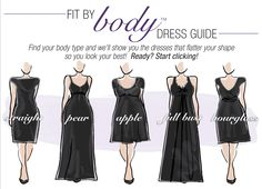 "Roaman's® Perfects Fit by Body™ Dress Shape Guide for Plus Size Women: This Spring…""It's All About You"" Curvy Fashion, Plus Size Fashion, Fashion Beauty, Womens Fashion, Dress Body Type, Look Blazer, Mode Plus, Apple Body Shapes, Dress Shapes"