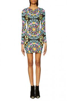 Long Sleeve Mini Dress in Suzani