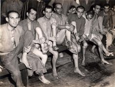 Buchenwald, Germany, survivors after the liberation, 1945.