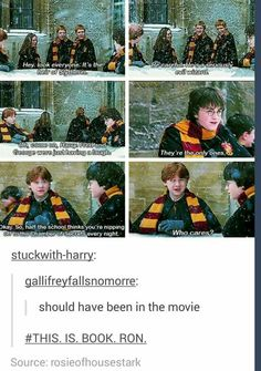 This is actually in the ABC Family's version of Harry Potter and the Chamber of Secrets. They put in the deleted scenes :)