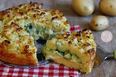 SBRICIOLATA+DI+PATATE Spanish Dishes, Fish And Meat, Antipasto, Bon Appetit, Baked Potato, Carne, Quiche, Cauliflower, Picnic