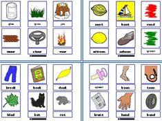 * Rijmtrio! -Schud de kaarten en deel ze uit. Elk kind krijgt er 4. De kinderen ondervragen elkaar: heb jij iets dat rijmt op hand? Het kind kijkt in zijn kaarten en controleert ze op een rijmwoord. Als hij met nee antwoord mag het vragende kind een kaart van de stapel pakken.
