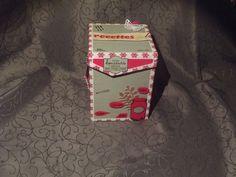 Boite recettes, rouge et grise réalisée en scrapbooking : Boîtes, coffrets par…