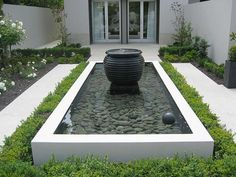 Water feature on pinterest water features singapore and for Square pond ideas