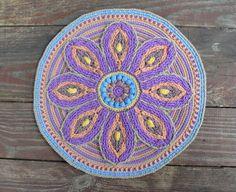 Crochet Mandala Mandala de patrón - mesa o decoración de la pared - para meditación - PDF - Instant download