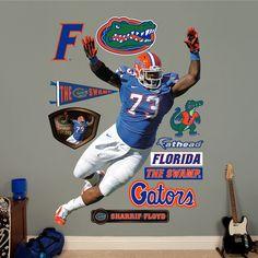 NCAA/NFLPA Sharrif Floyd Florida Gators 2013 Wall Decal Sticker