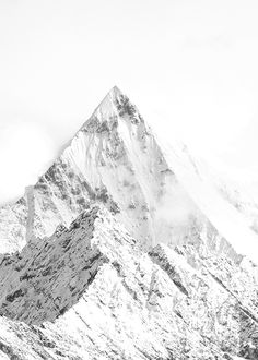 Plakat mit Berg-Motiv, Foto