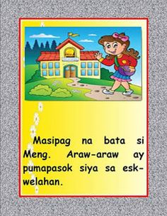 Teacher Fun Files: Matalino Ka Meng - Short Story DIY Big Book Best Picture For Short Stories friendship For Your Taste You are looking for something, and it is going to tell you exactly what you are Stories With Moral Lessons, Short Moral Stories, Moral Stories For Kids, Short Stories For Kids, Kindergarten Pictures, Kindergarten Teachers, Story For Grade 1, 8th Grade Math, Grade 2