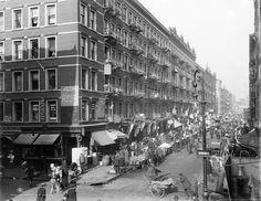 The Ghetto, Lower East Side, New York City, Rivington Street, Predominantly German (ca. 1909)