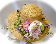 Morning Glory Vine Kentucky Derby Hat Spring by Marcellefinery, $54.00