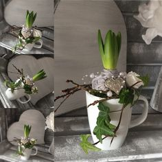 Perfekte dekoration 22 attraktive Ideen und Tipps Elegant Great Deco and Gift ❤️ Spring Decoration, Decoration Bedroom, Decoration Christmas, Deco Floral, Deco Table, Floral Arrangements, Diy And Crafts, Design Inspiration, Easter