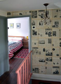 I would love to wall paper old recipes into a pantry or one wall of the kitchen... maybe my fanny farmer thats falliny apart
