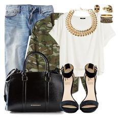 SLDR by ivon-hernandez on Polyvore featuring polyvore fashion style H&M Forever 21 Gap Rihanna For River Island Burberry Yves Saint Laurent Warehouse Kasun clothing
