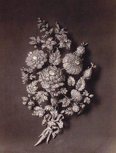 Empress Eugenie's 'Fleurs de Groseiller' Parure - corsage ornament  1855 Bapst