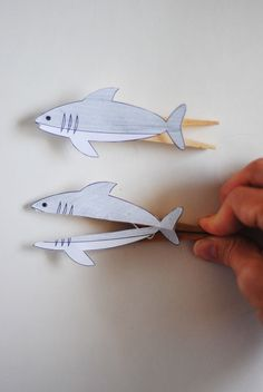 Tutorial :: Clothespin Fish and Shark These are SO FLIPPIN' CUTE!!!