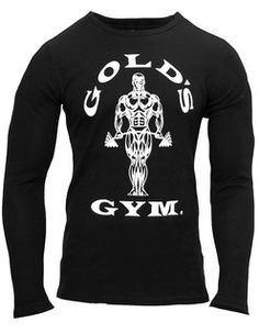 Golds Gym Mens Muscle Joe Thermal Longsleeve Schwarz