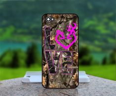 Love Browning Deer Camo - Photo Print in Hard Case -For iPhone 4 / 4s Case, iPhone 5 Case - White Case, Black Case (CHOOSE OPTION)