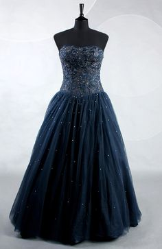 Floor-length A-line Sweetheart & Strapless Blues Sleeveless Evening Wear  Style Code: 06481  US$199.00