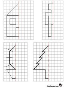 education scissors for example symmetry symetrie figure mirror axis distance ge Symmetry Worksheets, Preschool Worksheets, Preschool Learning, Kindergarten Math, Preschool Activities, Teaching, Preschool Colors, Visual Perception Activities, Montessori Math