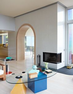 Today, we get some inspiration from Masquespacio and their stunning colorful interior design projects to get you the memphis design inspired living room you've