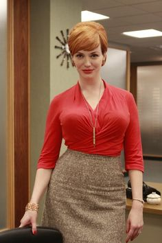 Charming Christina Hendricks ...  Dapper ideal Lady...   She has also had recurring roles in ER and Firefly and guest-starred in episodes of Angel, Miss Match, Tru Calling, Presidio Med, Without a Trace, and Las Vegas.