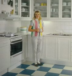 Ikea kitchen 1985 with a happy 80s lady. IKEA 40 Years of Inspiration 2015