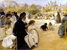 Edelfelt, Albert (1854-1905) - 1887 The Luxembourg Gardens, Paris (Ateneum Art Museum, Helsinki, Finland)