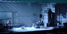 Notes from Underground. Scenic design by David Zinn. Stage Lighting Design, Stage Design, Prop Design, Cool Lighting, Design Set, Modern Design, Set Theatre, Set Design Theatre, David Zinn