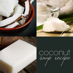 Coconut Oil & Milk Soap Recipe: the added fat of the coconut milk makes for a beautiful off-white bar, with delicious, rich and creamy lather.