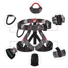 Pin it for later. Find out More rock climbing harness. Frame construction guarantees excellent weight distribution for optimal comfort: waistbelt and leg loops with doubled straps. waistbelt wider on the back and legs