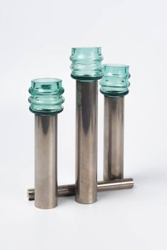 Shop vintage, mid-century, modern and antique more candle holders from the world's best furniture dealers. Mid Century Modern Lamps, Modern Candle Holders, Decorative Objects, Art Deco Fashion, Cool Furniture, Vintage Shops, Glass Art, Blue Green, Plating