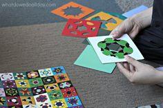 Kaleidograph design cards for kids