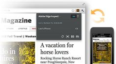 Adobe Edge Inspect CC Inspects Web Designs on Devices