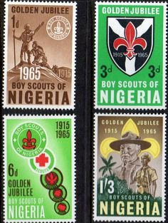 Nigeria 1965 Scouts Set Fine Mint As SG 157 60 Scott 169 72 Condition LMM Only one post charge applied on multipul purchases Details King George N B