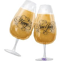 New Years Toasting Glasses