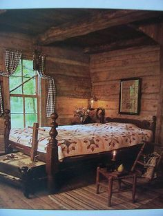 ★COUNTRY HOME COLLECTIONS~22 HOUSES★~Early Decorating Book~♥Prim Offerings♥~ | eBay Maybe not quite inglenook, but would make a Great Wall covering for a bedroom, primitive or not. Beautiful!