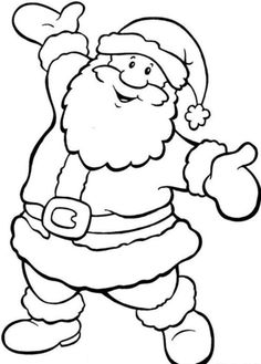 Happy Santa Free Coloring Pages For Christmas – Christmas Coloring